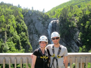 Zip-lining at Steady Brook Falls